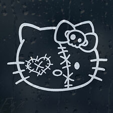 Funny Hello Kitty Darned Ugly Zombie Face Car Decal Vinyl Sticker