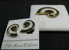 Butler Fifth Avenue Collection FAC Semi Parure Earrings & Brooch White & Gold