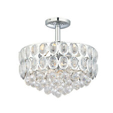 Modern Chrome & Acrylic Crystal Chandelier Ceiling Light - Endon Thornton 61074