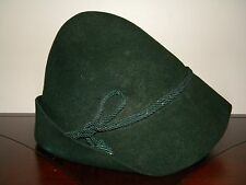 Vtg Authentic Womens German Hat Trumpf Tyrolean Trachten Hunt Oktoberfest Green