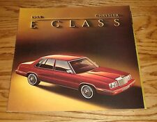 Original 1984 Chrysler E Class Deluxe Sales Brochure 84