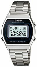Casio Men's Digital luminous Day And Date Watch, Stainless Steel