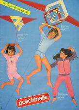 Publicité  1982  Lingerie Polichinelle slip tee shirt pyjama jogging enfants