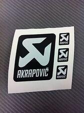 4 Adesivi Stickers AKRAPOVIC resistente al calore Gray