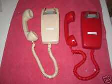 ITT- NO DIALS MINI WALL  Telephone YOU ARE BIDDING ONE   IN RED OR ASH