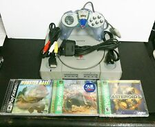 Sony Playstation 1 System Bundle W/3 NEW Games Controller + AC + AV + Exten