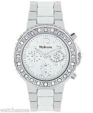 Style&Co Stainless Steel Crystals on Bezel Black Dial Women's Watch SC1221