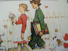 500 piece Norman Rockwell Jigsaw Young Love: Walking to School NEW SEALED
