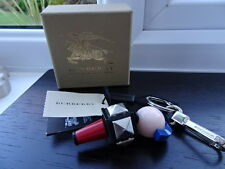 100% Authentic Burberry Punk Rocker Red Blue Character  Bag Charm, Keyring