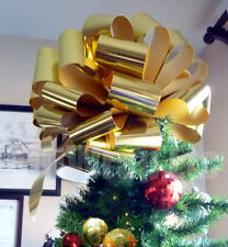 Big Metallic Gold Bow Large Gift Bike Car Toy Christmas Tree Party Decoration