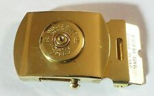 Vintage Winchester Super Speed No.12 shell Brass Belt Buckle US Navy Trench Art?