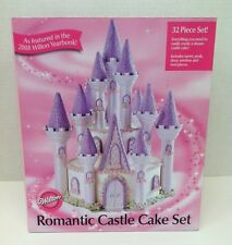 NEW! Wilton 32 Piece ROMANTIC CASTLE CAKE SET # 301-910