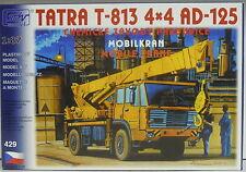 Mobildrehkran TATRA T 813 4x4 AD-125, CWP , HO, 1/87, SDV, Plastik, NEUHEIT