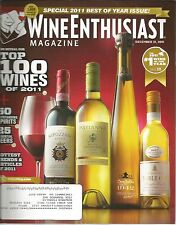 Wine Enthusiast Magazine December 31 2011 Special 2001 Best Of Year Issue