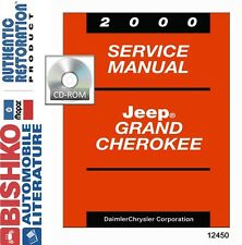 2000 Jeep Grand Cherokee Factory Shop Service Repair Manual CD