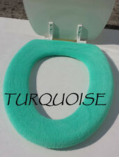 Bathroom Toilet Seat Warmer Cover  Washable Hi Quality- Turquoise LifeLong Needs