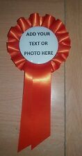 Personalised Rosette centre Dog Show birthday party event many colours of ribbon