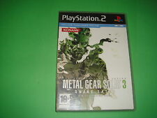 Juego clasico playstation 2 METAL GEAR SOLID 3 snake eater