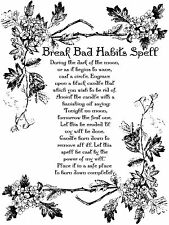 "A5 Print – Wiccan Spell ""Break Bad Habits"" (Picture Poster Art Ritual Magic)"