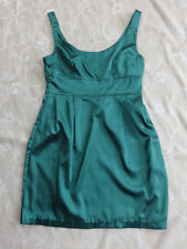 Supre Green Satin Look Dress Women's Size M