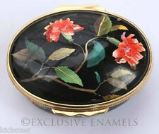 Halcyon Days Enamels China Rose British Museum Collection Enamel Box