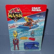 VINTAGE 1986 KENNER M.A.S.K MASK COAST PATROL VEHICLE + MATT TRACKER MOC CARDED