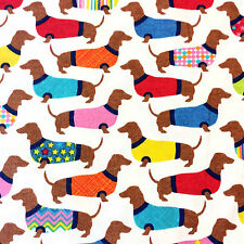 MD318 Dachshund Sweaters Doxin Wiener Dog Puppy Pet Puppies Cotton Quilt Fabric
