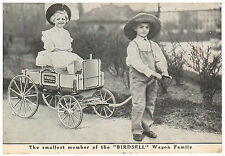 SOUTH BEND IND ADVERTISING POSTCARD BIRDSELL MANUFACTURING MINIATURE FARM WAGON
