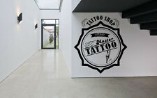 Wall Decor Vinyl Sticker Mural Poster Tattoo Parlor Gun Machine Ink Salon SA1164