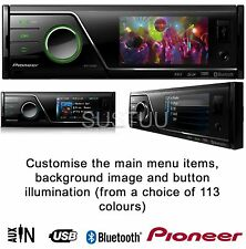 "Pioneer MVH 8300bt Bluetooth 3"" per auto per iPod/iPhone/usb/mp3/sd CARD AUX IN"