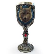 Unique Novelty Resin Stainless Steel 3D Wolf Goblet Mug Beer Wine Cup Gift N5W5