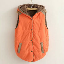 Womens Slim Fleece Warm Vest Hoodie Coat Sleeveless Jacket Hooded Vest Waistcoat