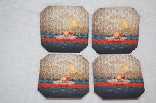 New Deny Designs Jose Luis Guerrero Paper Boat Coasters/Set of 4 Boat Coasters