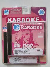 MTV Karaoke Latin Pop Hits Volume 1 & 2 CD Graphics The Singing Machine New