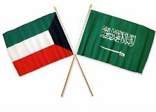 """12x18 12""""x18"""" Wholesale Combo Kuwait & Saudi Arabia Stick Flag"""
