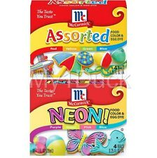 McCormick Assorted Colors & Neon Food Color Coloring & Egg Dye ~  (2-PACK)