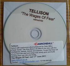 Tellison - The Wages Of Fear Promo Album (CD 2011) Collectable CD