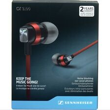 Sennheiser CX 3.00 Red Noise Blocking Ear Canal Phones Earphones Headphones
