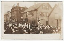 NEW BEDFORD MASSACHUSETTS RPPC Real Photo Postcard PARADE San Gabriel Visit MASS