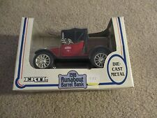 ERTL 1918 Runabout Barrel Bank True Value Hardware 1:25 Scale MIB 1989