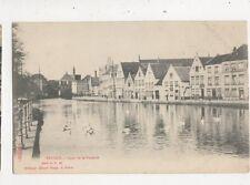 Bruges Quai de La Potterie Belgium 1908 U/B Postcard 907a