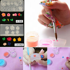 6pc Clear Silicone Mould 3D DIY Nail Art Flower UV GEL Acrylic Powder Mold Decor