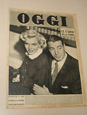 MARILYN MONROE with JOE DI MAGGIO on cover italy BIG SIZE magazine 1954