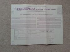 Prudential Assurance Co memrobilia Life assurance policy 1972