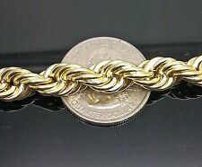"10K Yellow Gold Thick Rope Chain 28"", 10mm Franco, Miami, Cuben, Thick Chain"