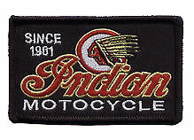 Indian Motocycle embroidered cloth patch.  B020404