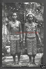 Borneo nude Dayak Girl photo postcard Costume Jewels Malaysia 20s