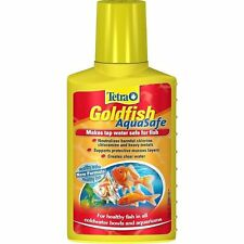 TETRA AQUARIUM GOLDFISH AQUASAFE TAP WATER SAFE CONDITIONER TREATMENT 100ML