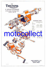 TRIUMPH Slickshift Gearbox - Exploded View Technical Drawing..A3 420mm x 300mm