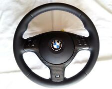 BMW E46 M3 M5 X5 Perforated Leather+ Carbon Steering Wheel ///M Stitch Neu Leder